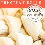 a picture of gluten free crescent rolls in a bowl.