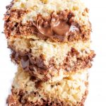 NUTELLA STUFFED RICE KRISPIE TREATS -say what?! Gluten Free, with a dairy free alternative. #glutenfreericekrispietreats #nutella #nutellaricekrispietreats #glutenfree #LifeAfterWheat