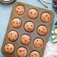 Chocolaty Gluten Free Zucchini Muffins