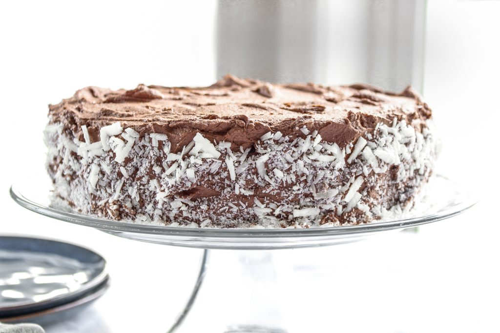 Chocolate Quinoa Cake uses cooked quinoa instead of flour. Add the ingredients to your blender, bake, and (of course) make the whipped chocolate ganache to top it all off.
