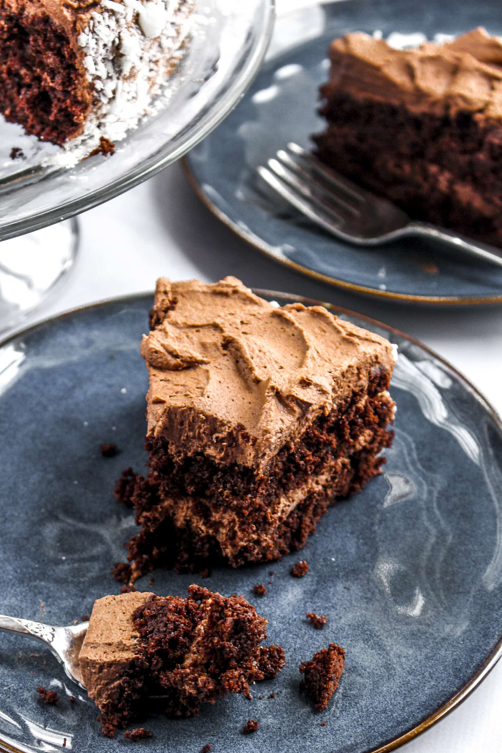 Chocolate Quinoa Cake with Whipped Ganache Frosting