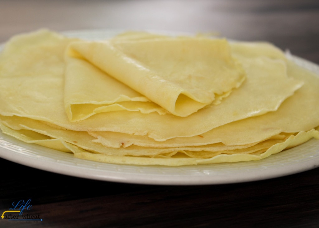 Quick and easy gluten free crepes are a cinch to make! Whip a few simple ingredients in your blender, pour into a skillet, cook, flip, and repeat. They're fold-able, roll-able, and perfect with any filling!