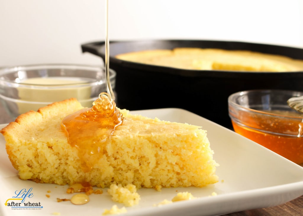 Southern comfort food at its finest! This quick and easy Gluten Free Cornbread is soft and tender with a beautiful, crispy, golden brown edge.