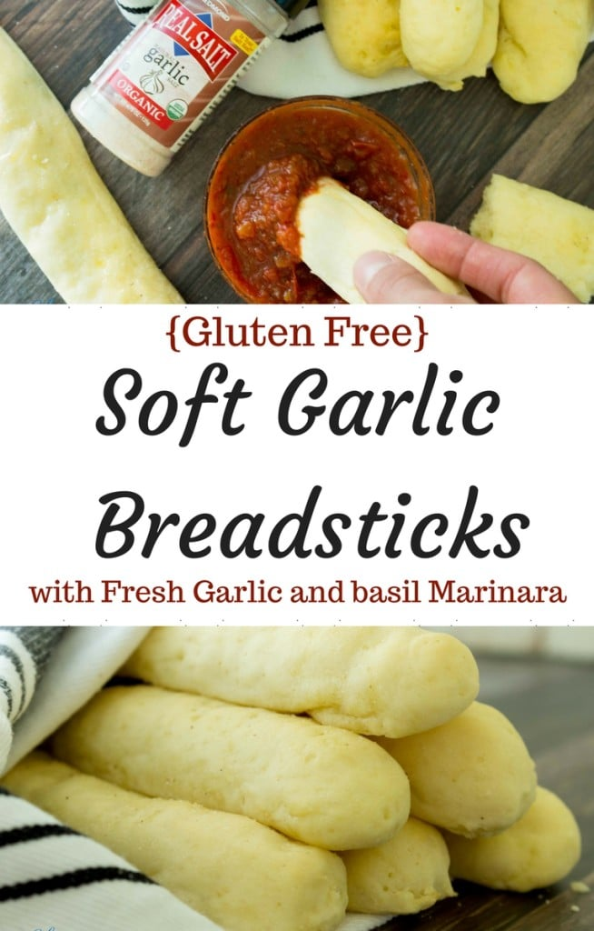 Soft and fluffy gluten free breadsticks brushed with olive oil and natural garlic salt, these are the perfect addition to any meal! From start to finish, you'll have them on the table in 30 minutes flat.