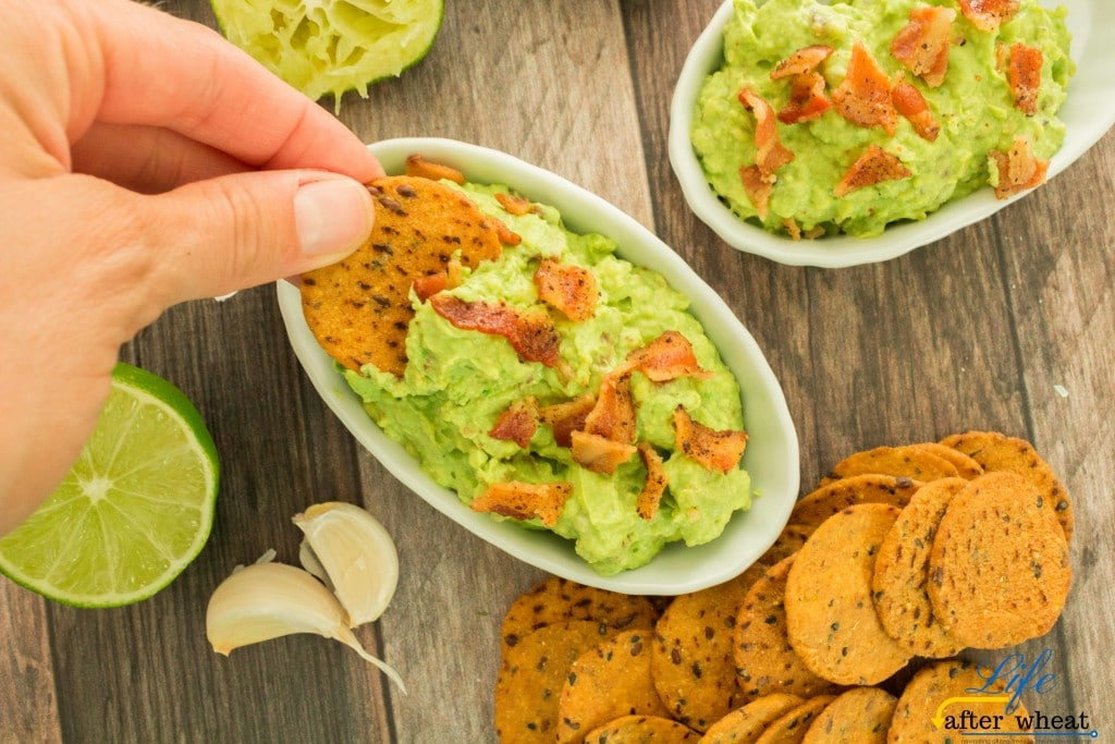 Take your guacamole to a whole new level by making BACON GUACAMOLE! Roasting the avocados brings a depth of flavorthat is irresistible when paired with smokey bacon. No need to worry about what to do with the leftovers-there won't be any!