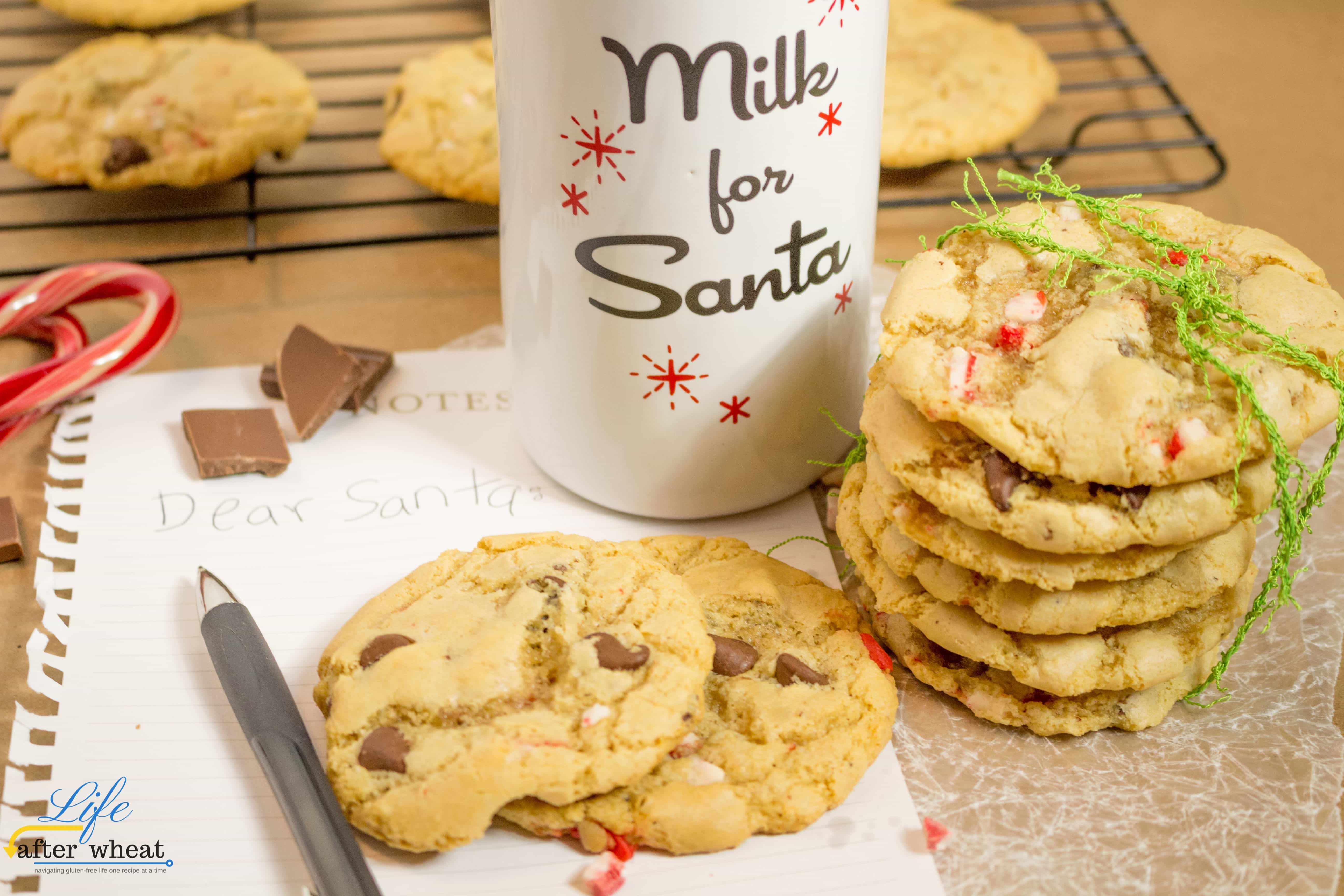 Gluten Free Candy Cane Chocolate Chip Cookies
