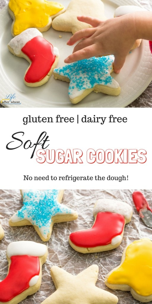 Pudding makes these gluten- and dairy-free cookies soft and full of sweet vanilla flavor. These gluten free sugar cookies are easy to make and there's need to refrigerate the dough! Egg-free/Vegan options included.