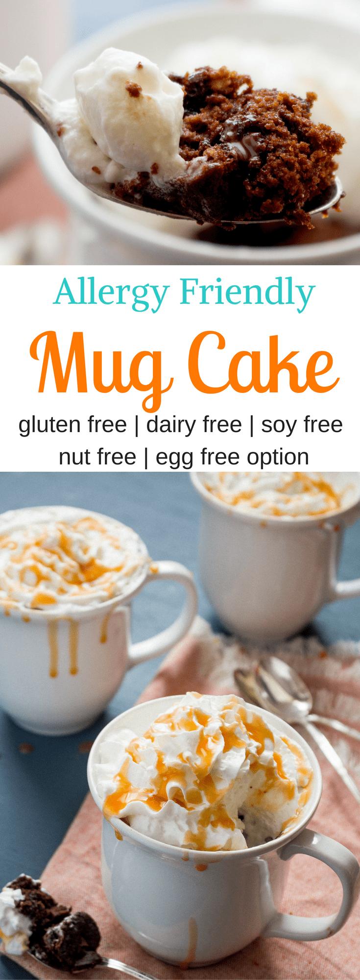 Allergy Friendly Mug Cake With Ryze Gluten Free Flour