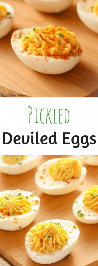 A deviled egg recipe with a very simple twist. The addition of pickle relish gives these gluten free deviled eggs a flavor boost.