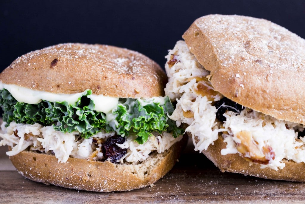 Picnics just got a lot more exciting! These Coconut Chicken Salad Sandwiches are ready in 5-10 minutes and are always a huge hit!