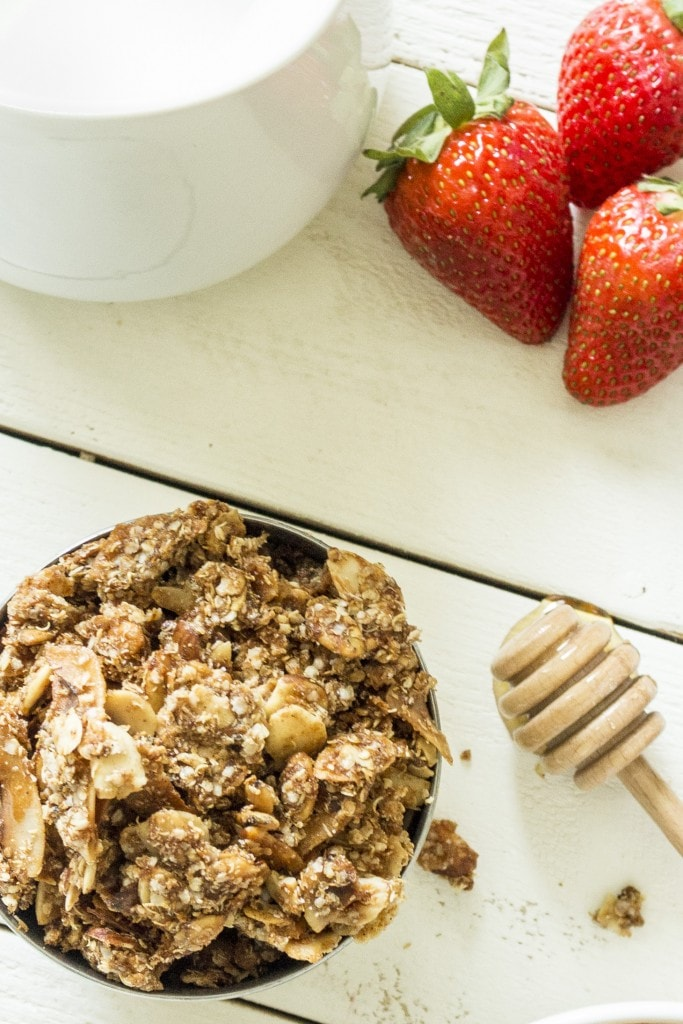 9-ingredient Quinoa Granola is a wholesome breakfast, or snack!