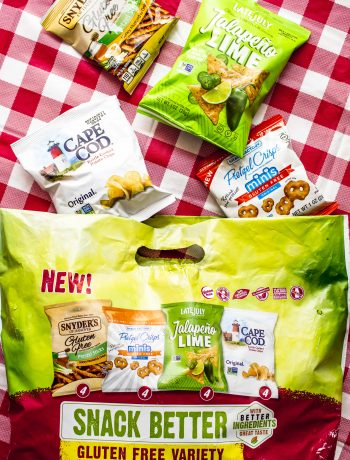 Gluten Free and BBQ's got you down? Grab the new Gluten Free Snack Pack from Snyder's-Lance! 4 delicious flavors (something for everyone!) that are individually wrapped so there's no chance of cross contamination.