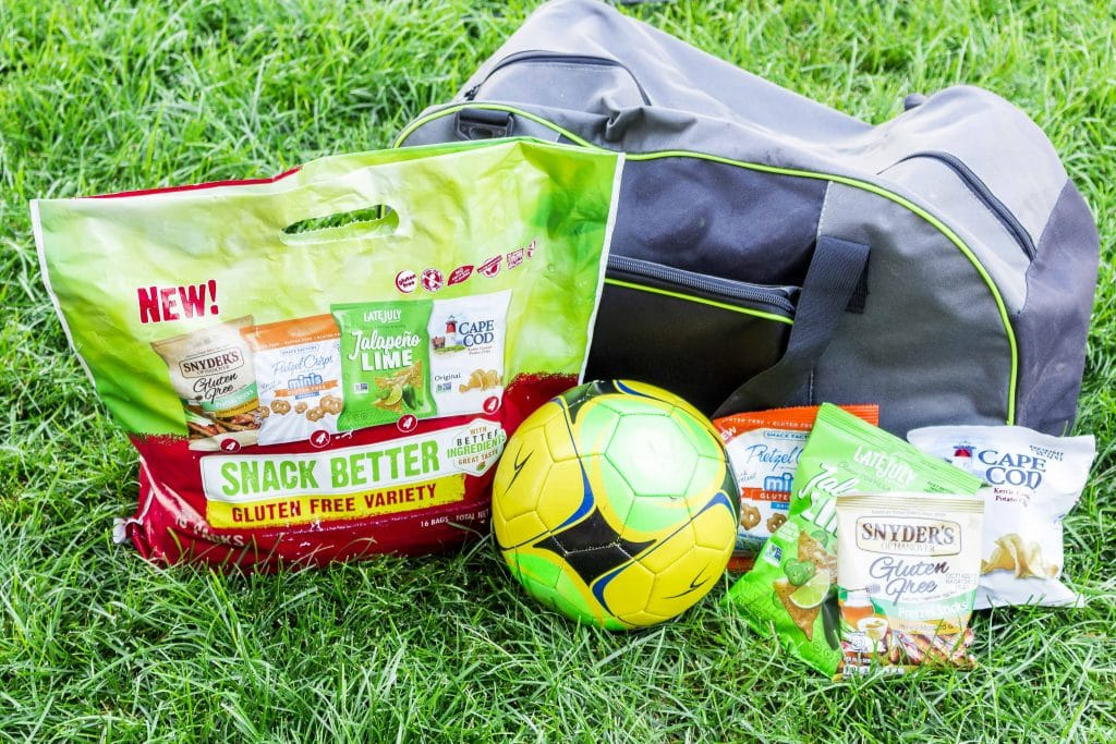 The new Gluten Free Snack Pack from Snyder's-Lance is perfect for whatever sport you're playing! Grab the Gluten Free Snack Pack (also peanut free!) so it's safe for everyone.