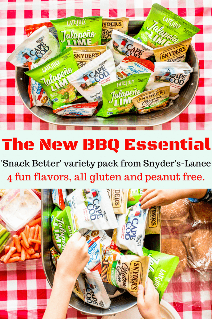 Take this certified gluten free snack pack to your next BBQ, party, or sports event! 4 fun flavors so there's something for everyone, and they're peanut free, too!