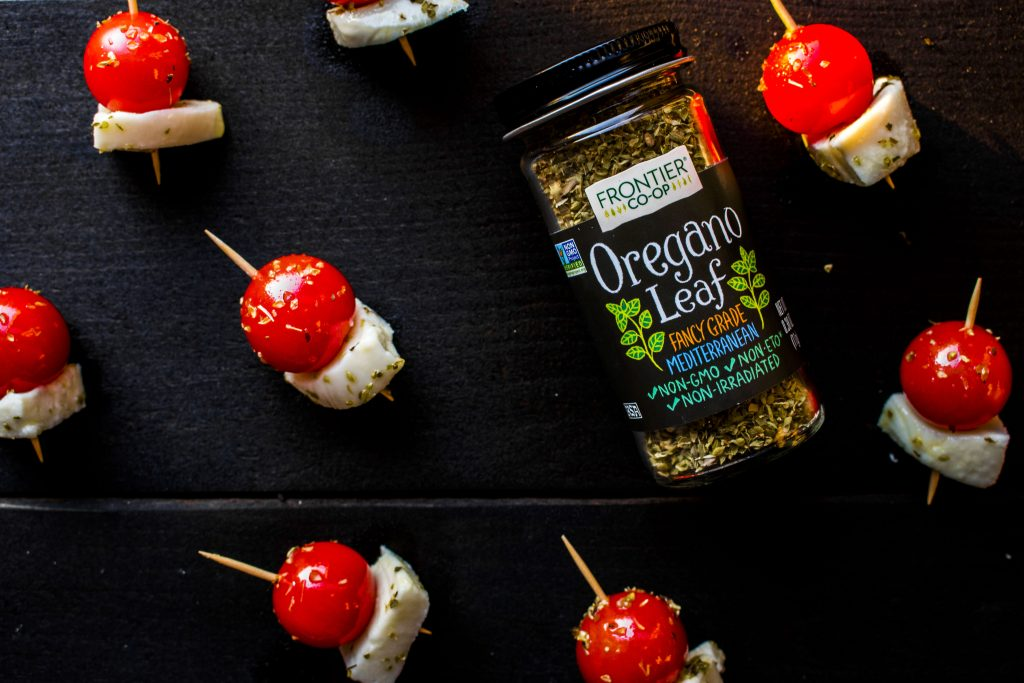 Delight your taste buds with oregano and garlic infused olive oil!