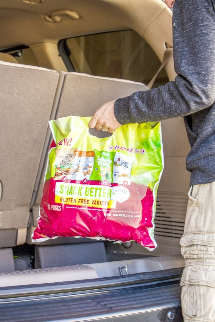 Food allergy tip: Keep a bag of safe and healthier snacks in your car for times when you need something safe to eat.