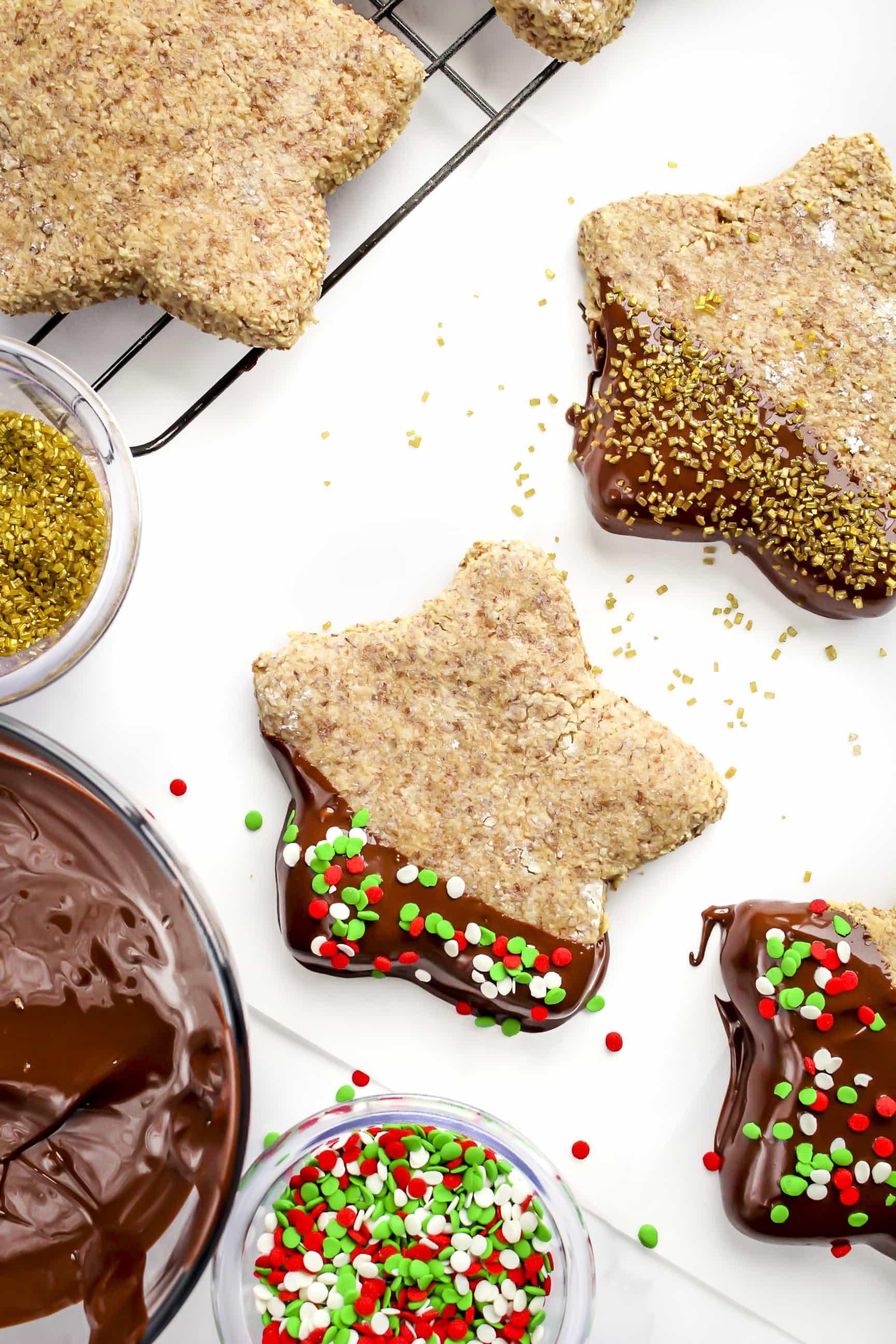 Cinnamon Stars Zimtsterne German Christmas Cookies Gluten Free