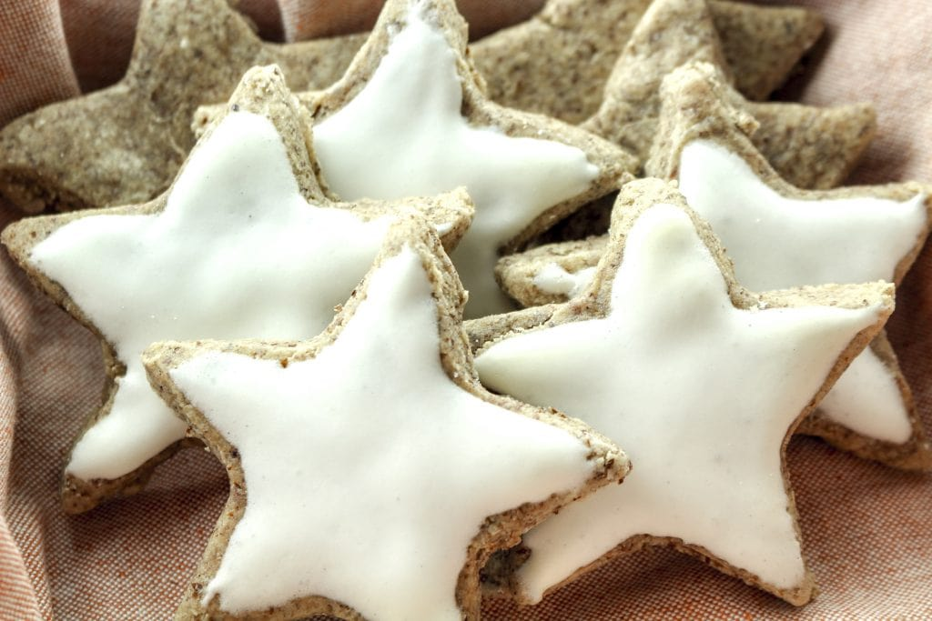 Cinnamon Stars (Zimtsterne) are classic German Christmas cookies. It's a simple and easy recipe that is naturally gluten free, dairy free and DELICIOUS!