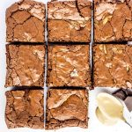 Tahini Brownies - gluten free, flourless, and dairy free