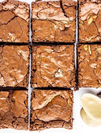 Tahini Brownies - gluten free, flourless, and dairy free