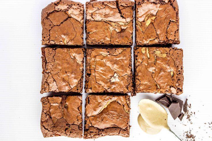 Chocolate Tahini Brownies - gluten free, dairy free, grain free