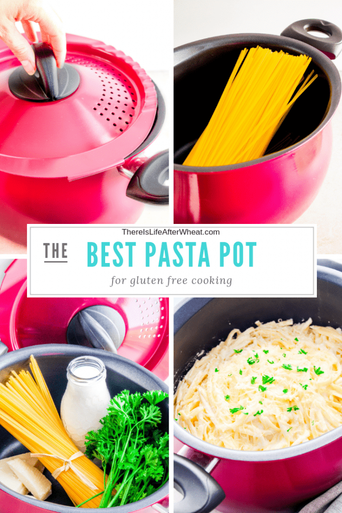 The BEST pot you'll ever find + an easy and delicious recipe for Gluten Free Alfredo Sauce. #glutenfreepasta #glutenfreealfredosauce #LifeAfterWheat
