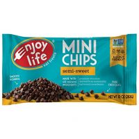 Enjoy Life Baking Chocolate, Soy free, Nut free, Gluten free, Dairy free, Non GMO, Vegan, Paleo, Semi Sweet Mini Chips, 10 Ounce Bag