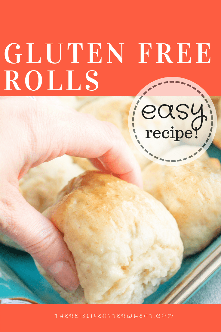 Soft, fluffy and EASY gluten free rolls! Ready in 1 hour and everyone will love them. #glutenfree #glutenfreerolls #glutenfreerecipes #LifeAfterWheat