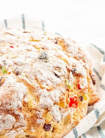 Gluten Free Julekake is a beautiful Norwegian Christmas bread studded with raisins and candied fruits with a subtle hint of cardamom. This bread is light, fluffy, and SO easy to make!