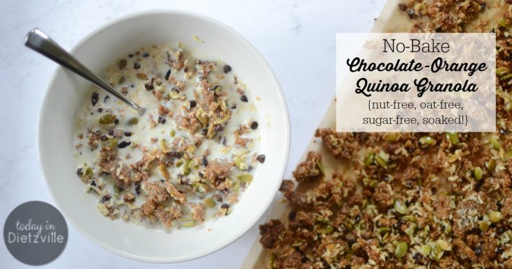 No-Bake Chocolate-Orange Quinoa Granola {nut-free, oat-free, sugar-free, soaked!}