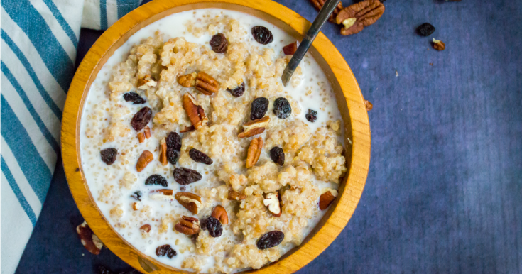 Soaked Instant Pot Quinoa Breakfast Porridge (gluten-free, grain-free, dairy-free)