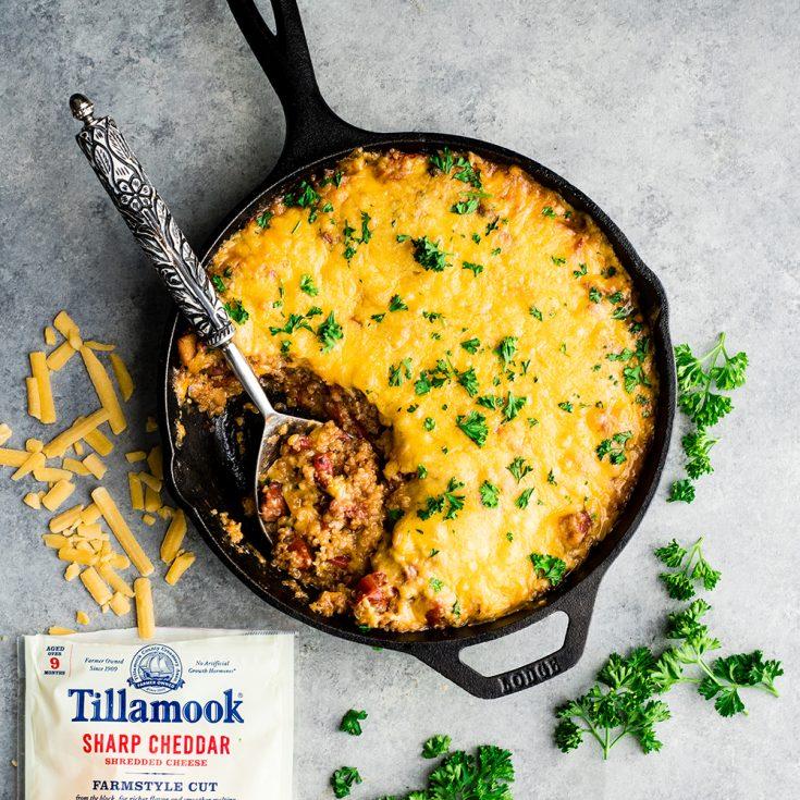 Easy Cheesy Baked Quinoa Casserole Recipe
