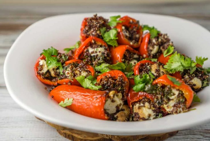 Vegetarian Stuffed Mini Bell Peppers for Two