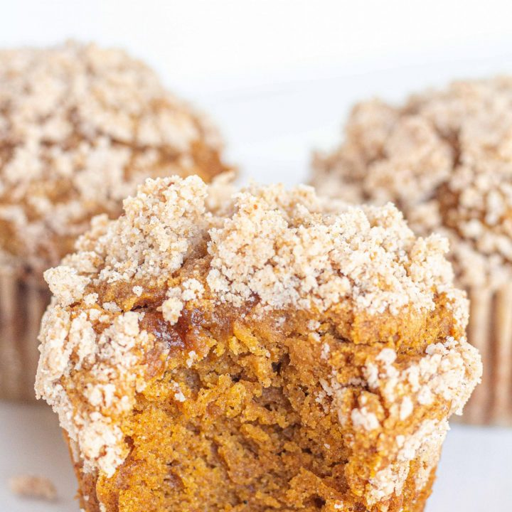 Gluten Free Pumpkin Muffins with Streusel Topping